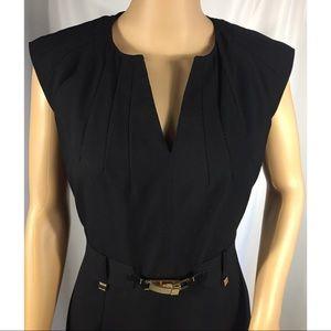 Women's Calvin Klein Black Sheath Career Dress
